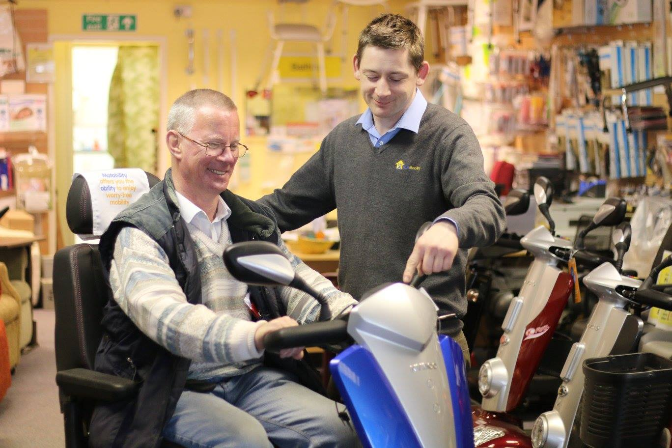 customer service and demonstrations at true mobility didcot oxfordshire