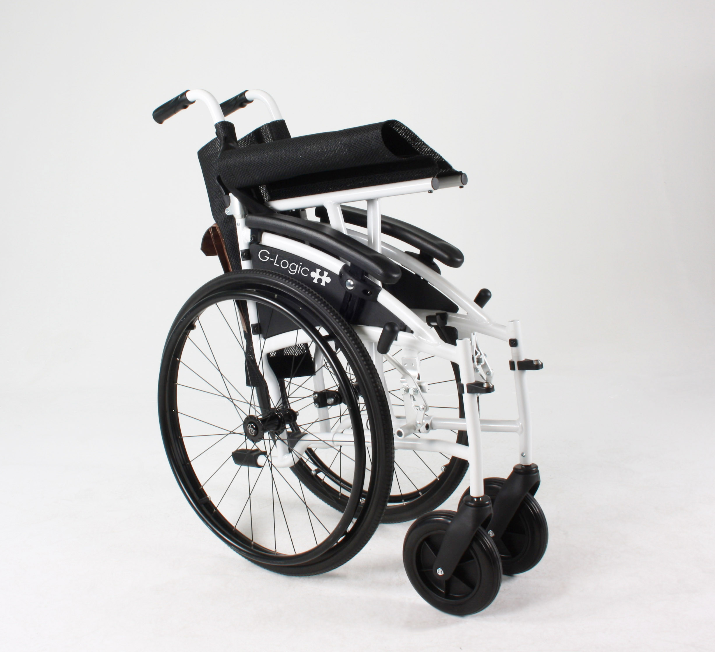 Excel G Logic folding wheelchair by Van Os Medical at True Mobility Didcot Oxfordshire