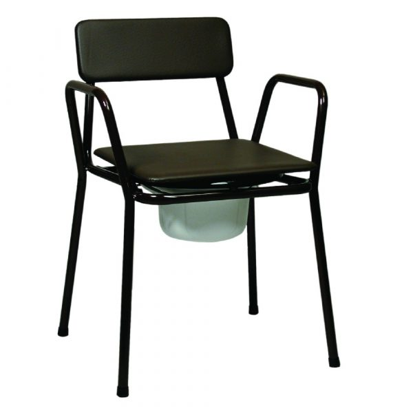 Compact Stacking Commode Chair