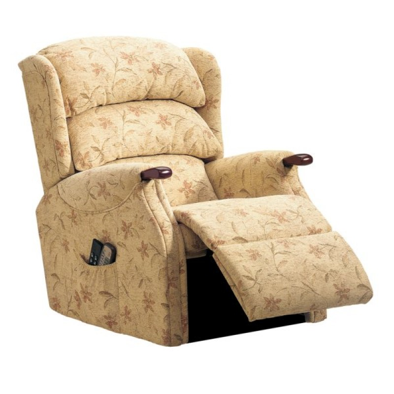 Celebrity Westbury Rise and recline chair with wooden knuckle armrests at true mobility didcot oxfordshire